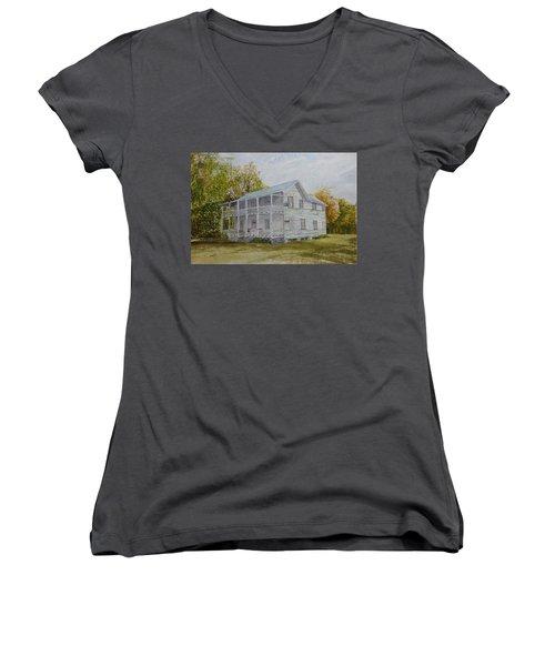 Forgotten By Time Women's V-Neck T-Shirt (Junior Cut)