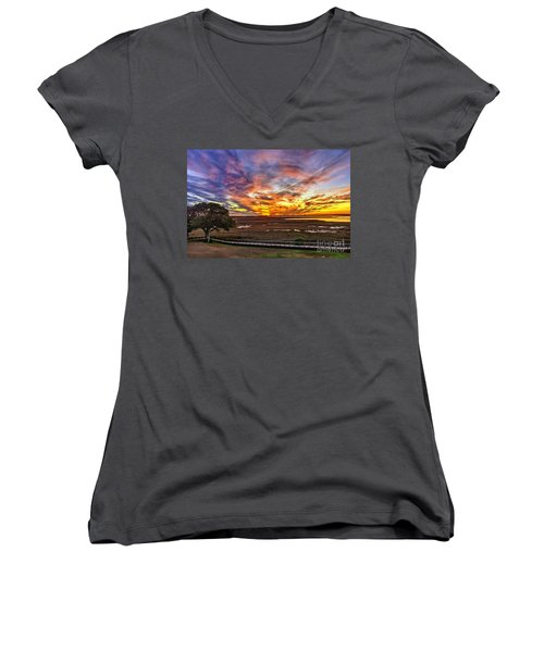 Enlightened Tree Women's V-Neck