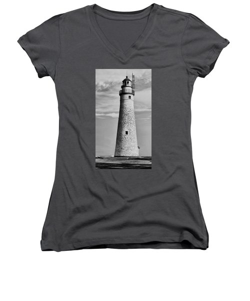 Fort Gratiot Lighthouse Women's V-Neck (Athletic Fit)