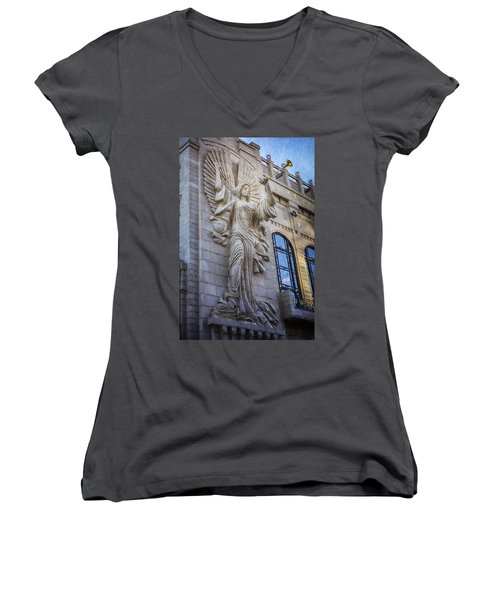 Fort Worth Impressions Bass Hall Angel Women's V-Neck