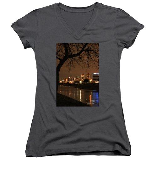 Fort Worth Skyline Women's V-Neck (Athletic Fit)