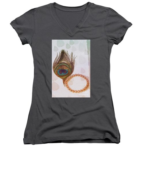 Fortune Assets Of Lord Krishna Women's V-Neck T-Shirt