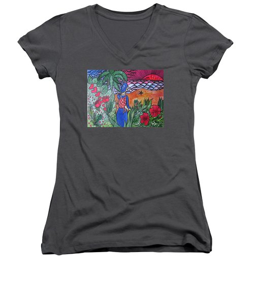 Fortune ....happiness Women's V-Neck