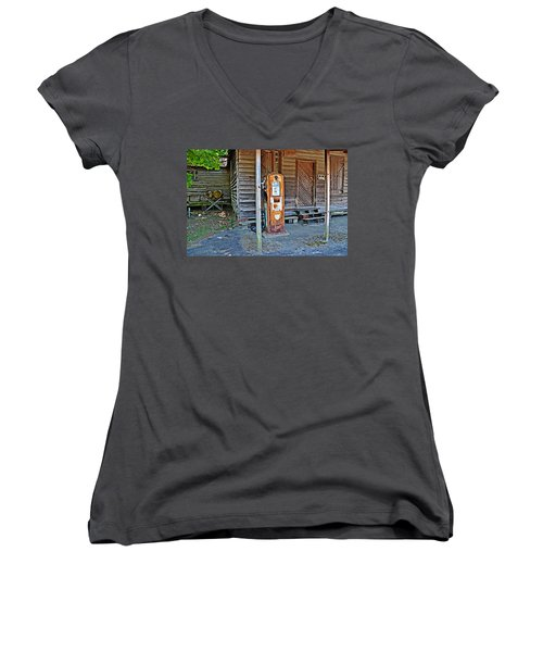 Forty Nine Cents Per Gallon Women's V-Neck (Athletic Fit)