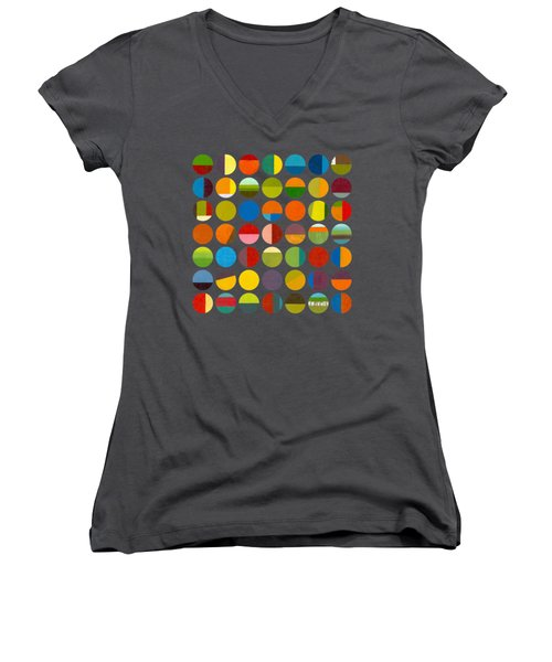 Forty Nine Circles Women's V-Neck T-Shirt