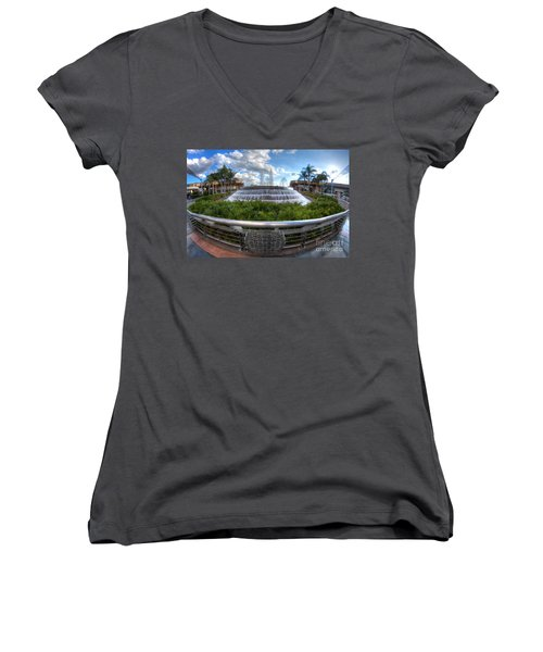 Fountain Of Nations Women's V-Neck T-Shirt