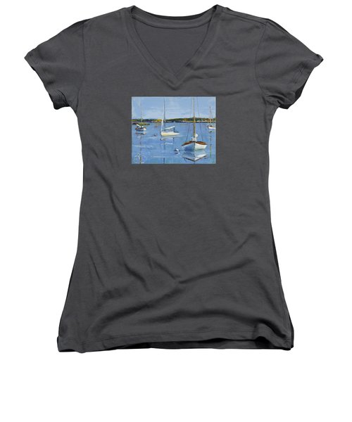 Four Daysailers Women's V-Neck (Athletic Fit)