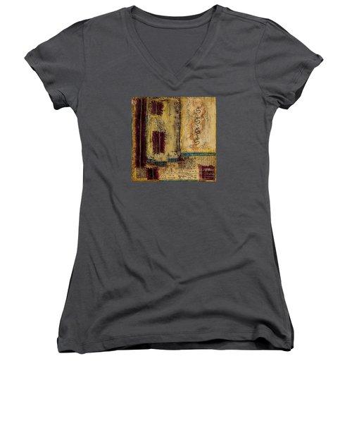 Four Dragons Women's V-Neck T-Shirt (Junior Cut) by Bellesouth Studio