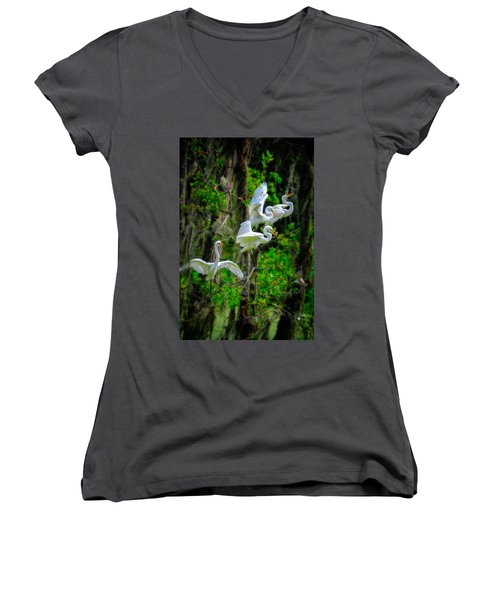 Four Egrets Women's V-Neck