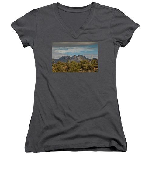 Four Peaks Painterly Women's V-Neck