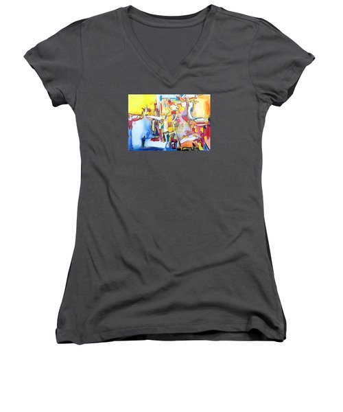 Fourth World Ladders Women's V-Neck (Athletic Fit)
