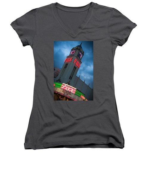Fox Theater Merle Haggard Tribute Women's V-Neck T-Shirt