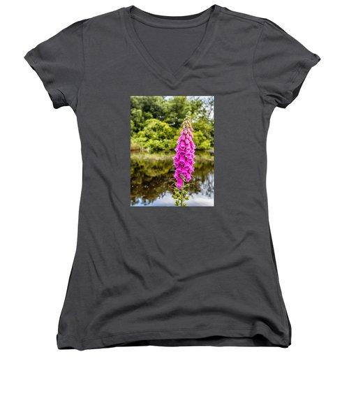 Foxglove In Flower Women's V-Neck