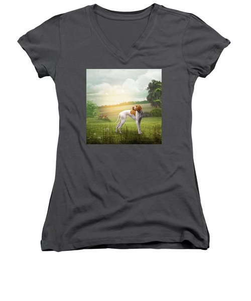 Foxhound Women's V-Neck T-Shirt
