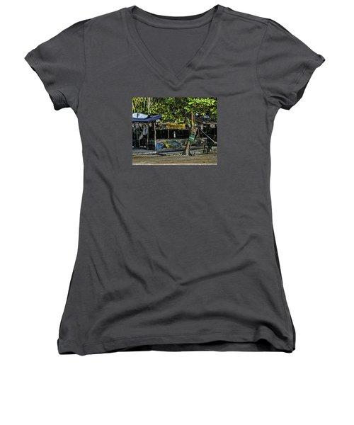 Foxy's On Jost Van Dyke Women's V-Neck T-Shirt