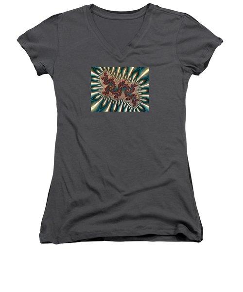 Fractal Landscape V Women's V-Neck T-Shirt