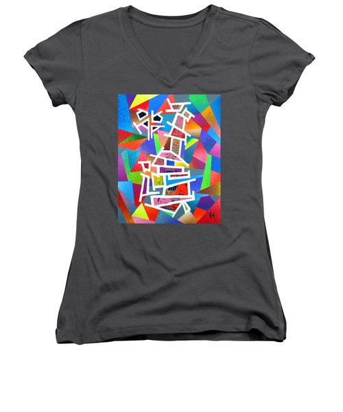 Fractured Instrument Of Love Women's V-Neck (Athletic Fit)