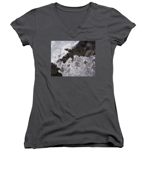Fragmented Ice Women's V-Neck (Athletic Fit)