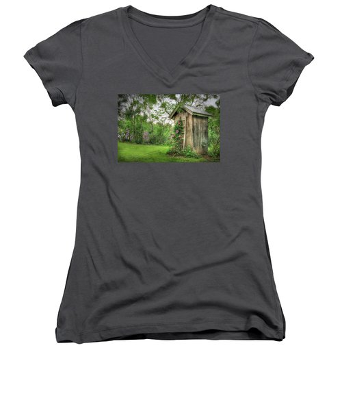 Fragrant Outhouse Women's V-Neck (Athletic Fit)