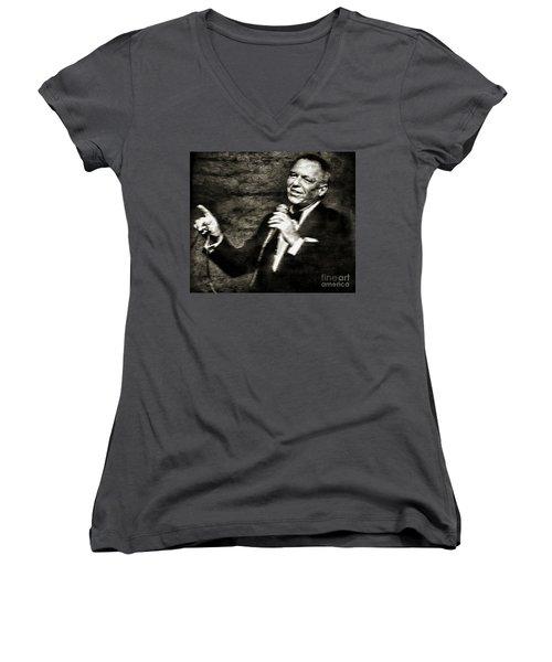 Frank Sinatra -  Women's V-Neck (Athletic Fit)