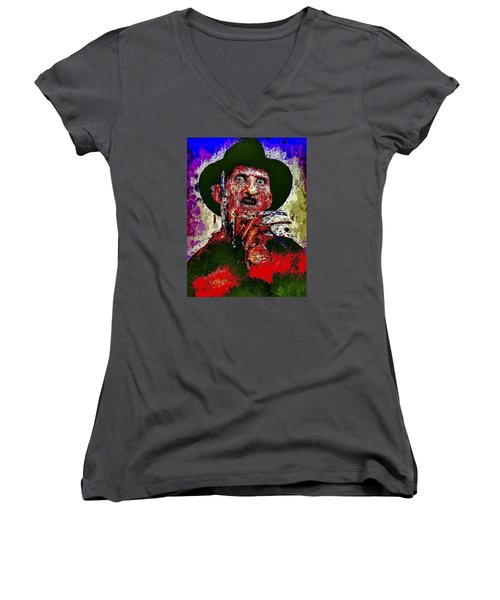 Freddy Krueger Women's V-Neck