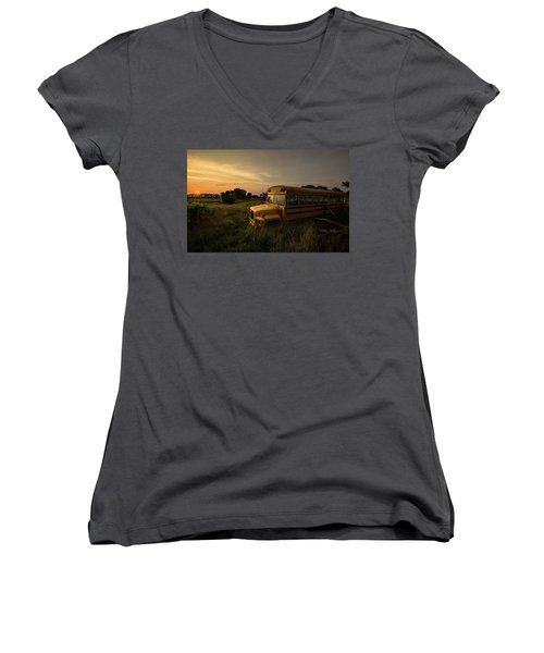 Women's V-Neck T-Shirt featuring the photograph Freddy's Revenge  by Aaron J Groen