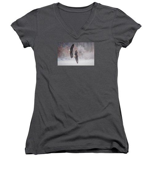 Freedom Women's V-Neck T-Shirt (Junior Cut) by Kelly Marquardt