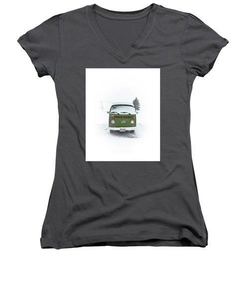Freezenugen Women's V-Neck T-Shirt (Junior Cut) by Andrew Weills