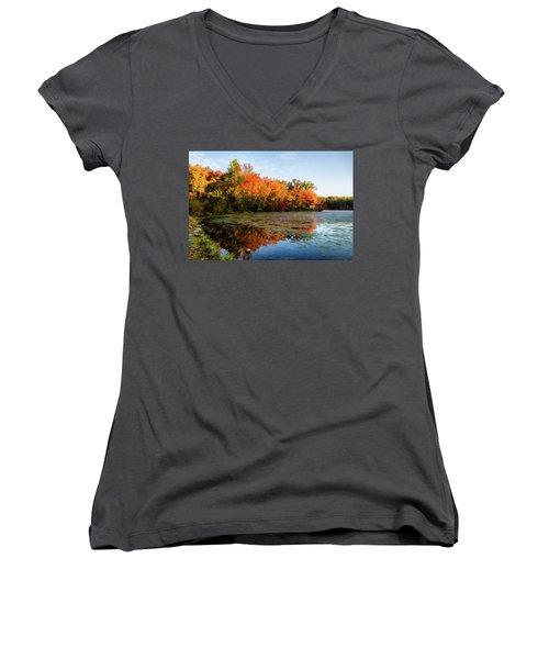 French Creek 15-025 Women's V-Neck T-Shirt (Junior Cut) by Scott McAllister