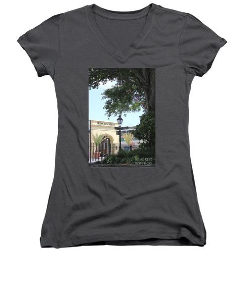 French Market Women's V-Neck T-Shirt