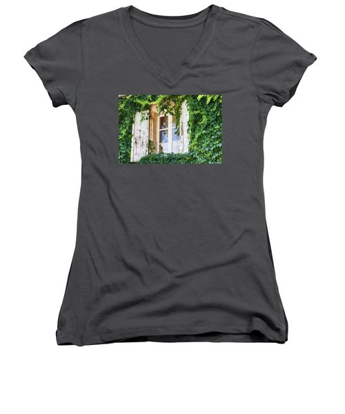 French Window In Provence Women's V-Neck