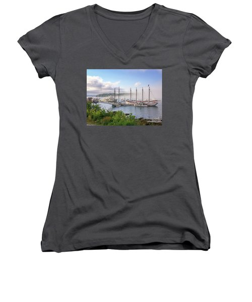 Frenchman's Bay Bar Harbor Women's V-Neck (Athletic Fit)