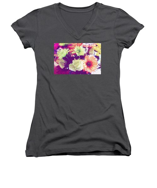 Fresh Flowers Women's V-Neck T-Shirt