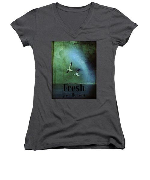Fresh From Heaven Women's V-Neck T-Shirt