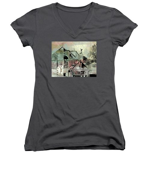 Women's V-Neck T-Shirt (Junior Cut) featuring the photograph Fresh Seafood by Susan Stone