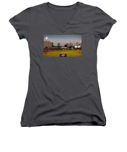 Fresno Grizzlies Women's V-Neck T-Shirt (Junior Cut)