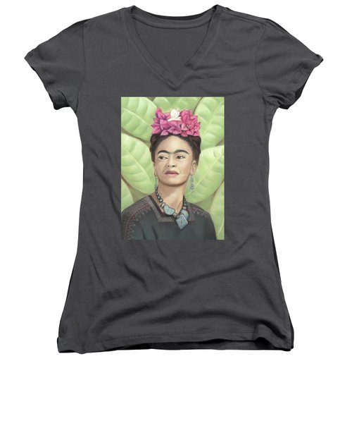 Frida Kahlo Women's V-Neck (Athletic Fit)