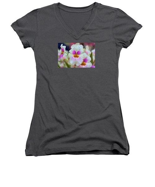 Friday Flowers Women's V-Neck T-Shirt