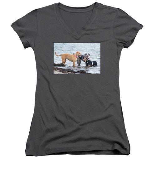 Friends Women's V-Neck T-Shirt (Junior Cut) by Stephanie Hayes