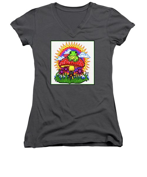 Froggy For Mukunda Women's V-Neck (Athletic Fit)