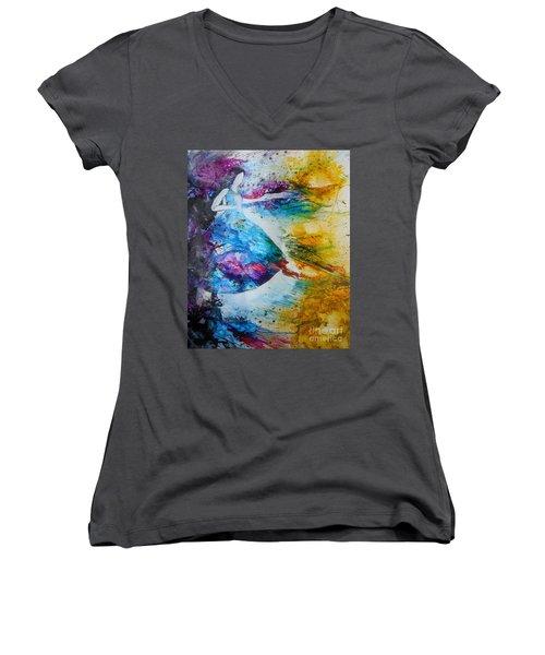 From Captivity To Creativity Women's V-Neck T-Shirt