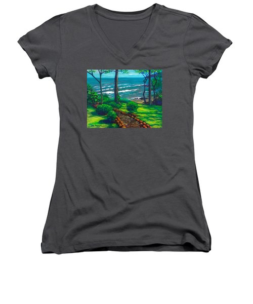 From The Hacienda Women's V-Neck T-Shirt (Junior Cut) by Jeanette Jarmon