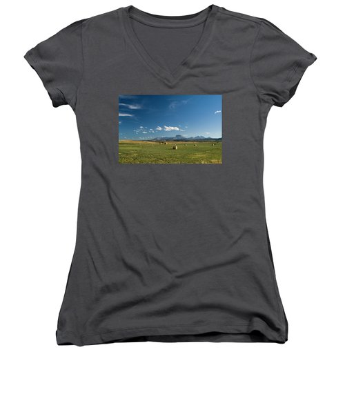 From The Prairie To The Rockies Women's V-Neck (Athletic Fit)