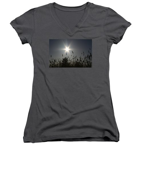 Women's V-Neck T-Shirt (Junior Cut) featuring the photograph From Where I Sit by Holly Ethan