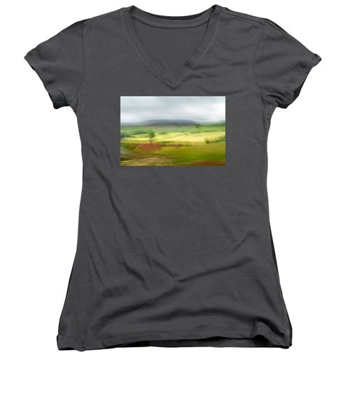 heading north of Yorkshire to Lake District - UK 1 Women's V-Neck