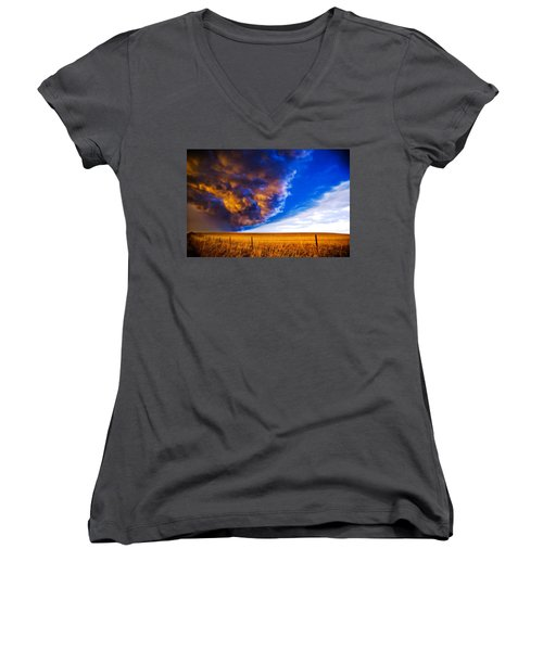 Front At Sunset 2 Of 2 Women's V-Neck T-Shirt