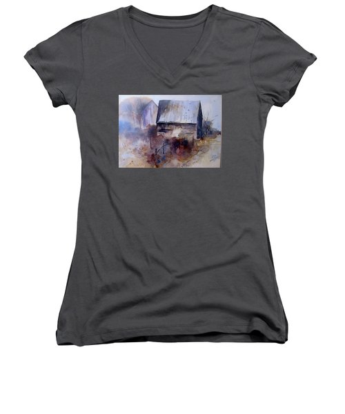 Frozen Barn Women's V-Neck (Athletic Fit)