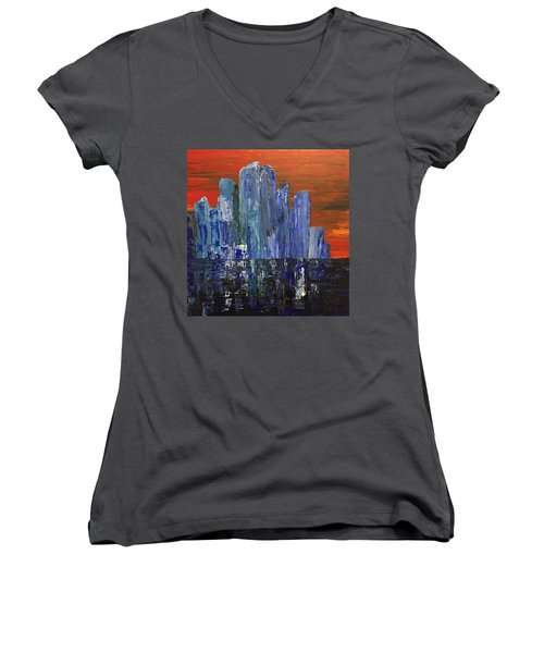 Frozen City Women's V-Neck T-Shirt