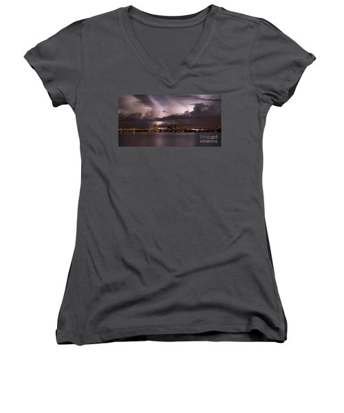 Ft Myers Nights Women's V-Neck (Athletic Fit)