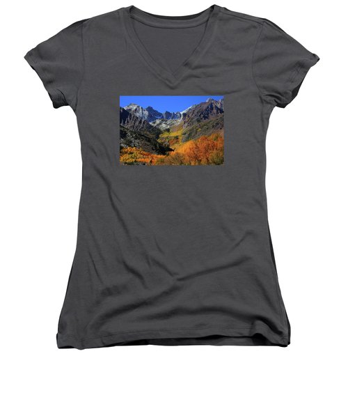 Full Autumn Display At Mcgee Creek Canyon In The Eastern Sierras Women's V-Neck (Athletic Fit)